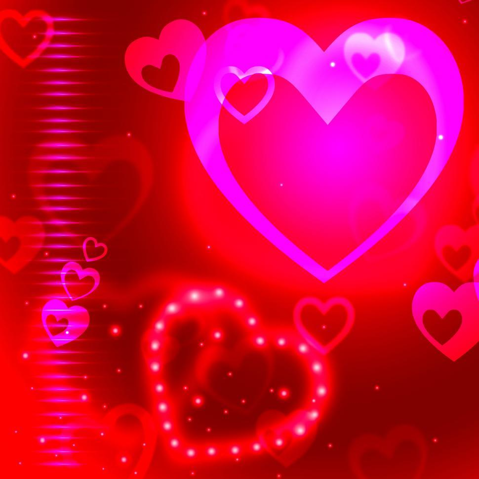 Download Free Stock HD Photo of Glow Background Indicates Valentine Day And Backgrounds Online