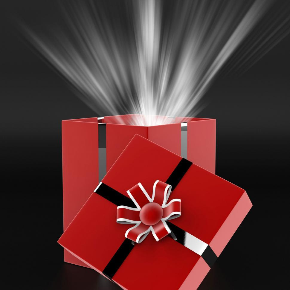 Download Free Stock Photo of Celebrate Surprise Means Gift Box And Present
