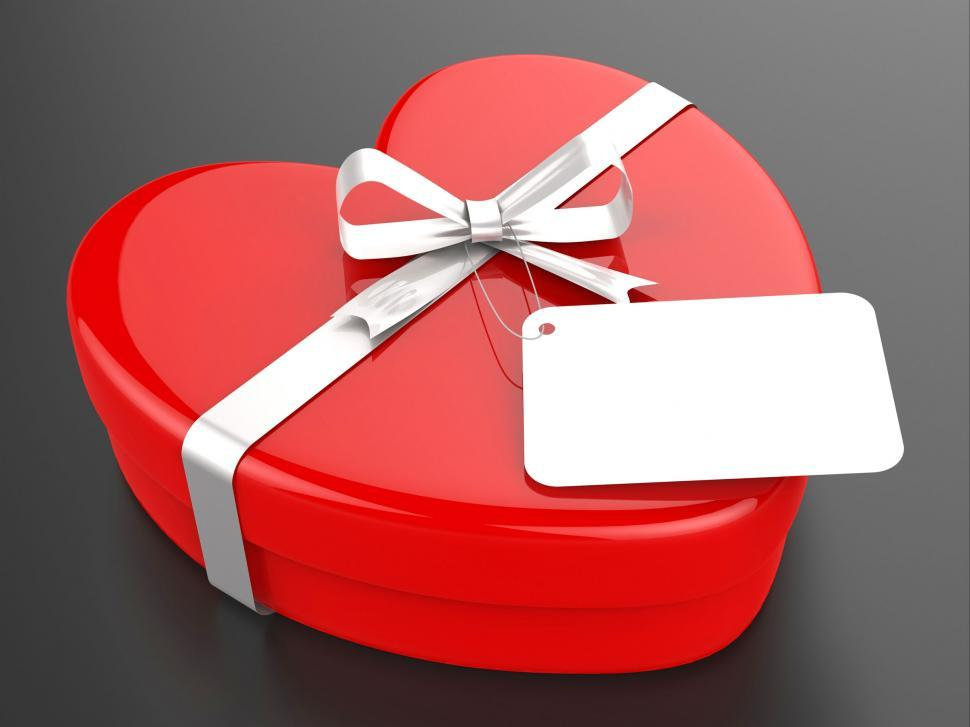 Download Free Stock Photo of Gift Tag Represents Valentine Day And Card