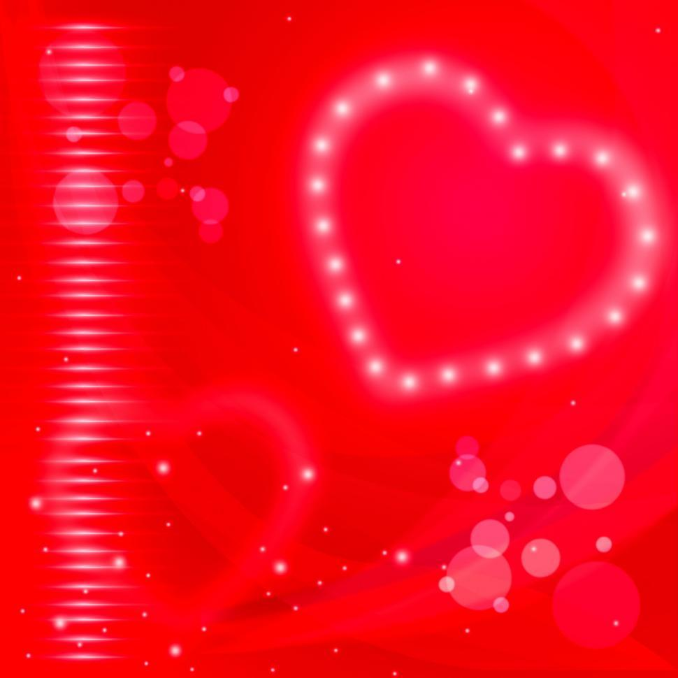 Download Free Stock Photo of Glow Background Represents Heart Shape And Backgrounds