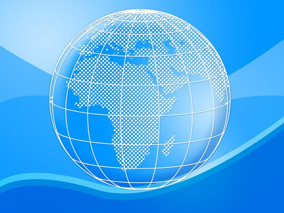 Download Free Stock HD Photo of Background Globe Means Globally Globalise And Design Online