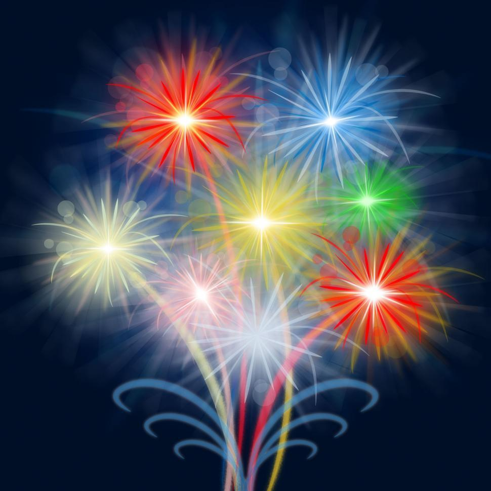 Download Free Stock HD Photo of Fireworks Celebrate Shows Explosion Background And Celebration Online