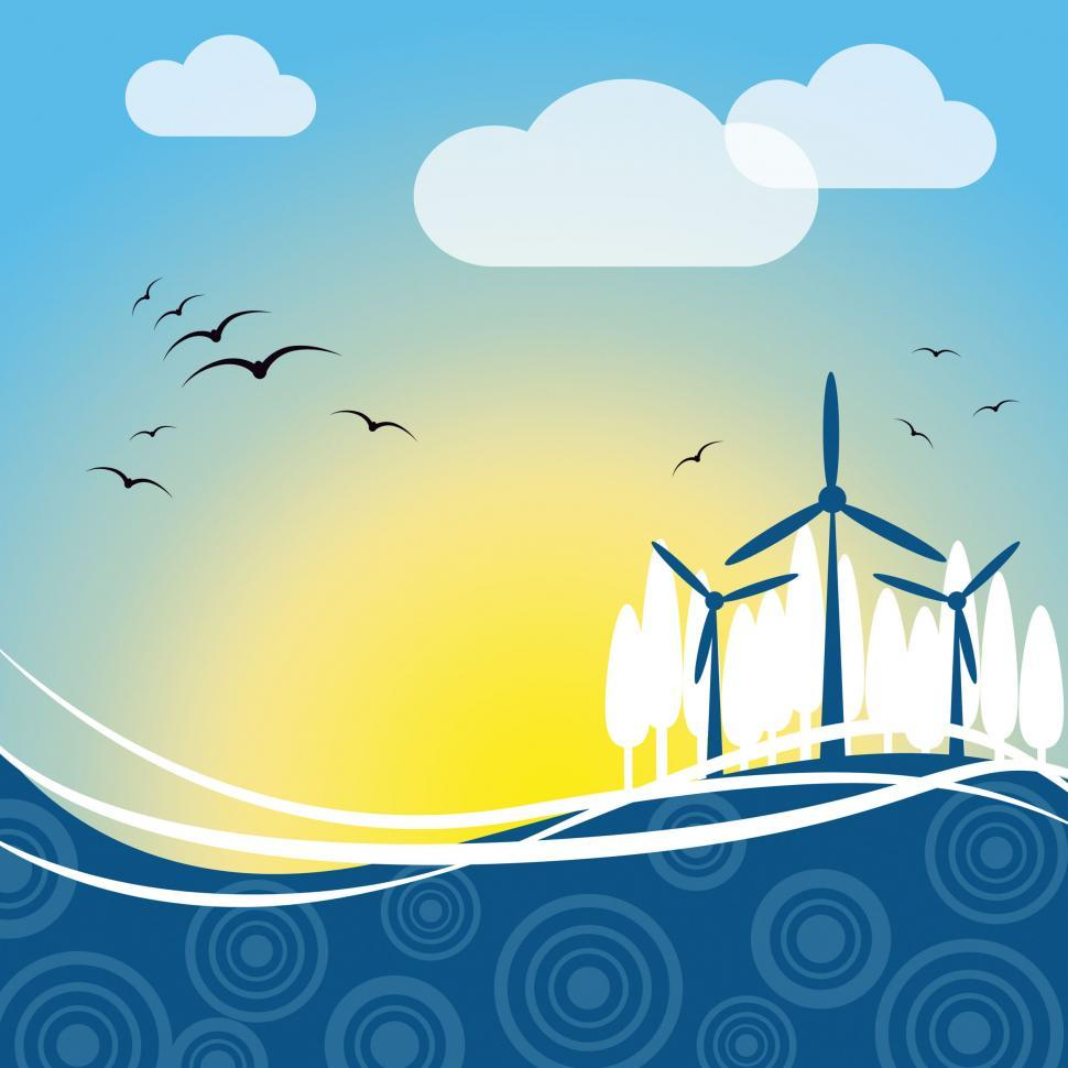 Download Free Stock HD Photo of Wind Power Represents Turbine Energy And Electric Online