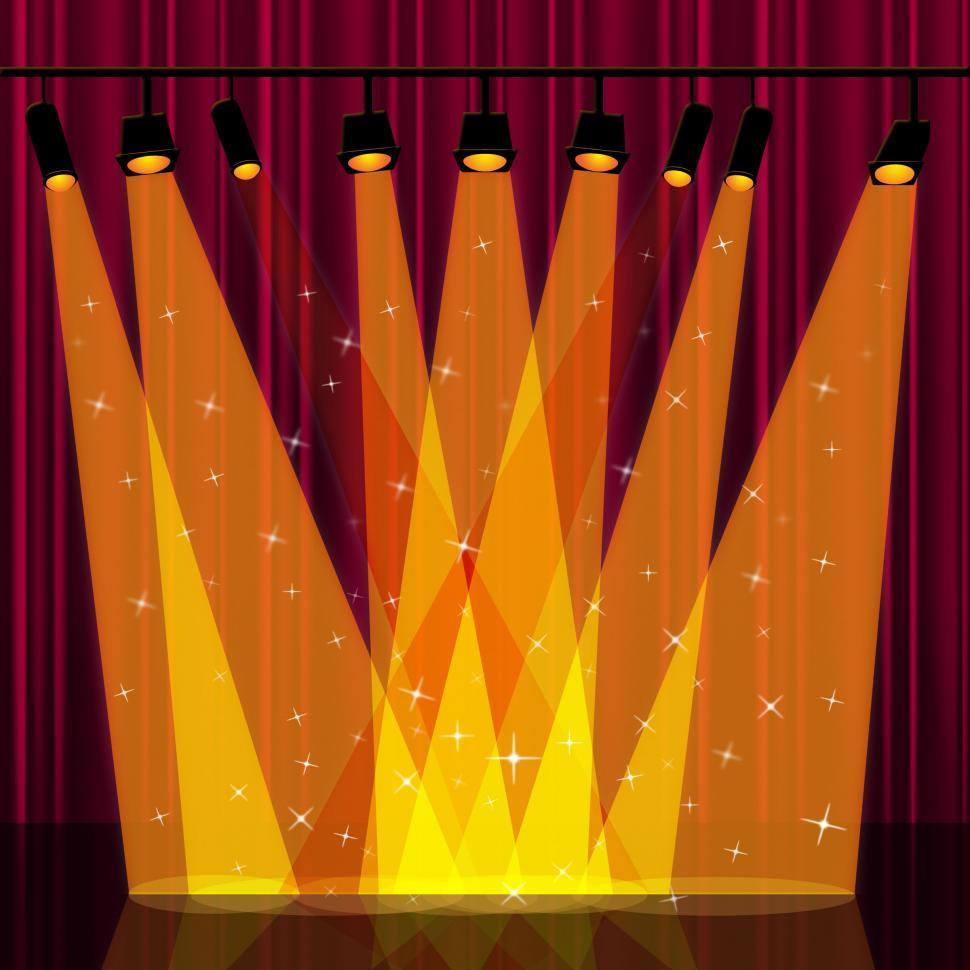 Download Free Stock HD Photo of Background Spotlight Indicates Stage Lights And Backdrop Online
