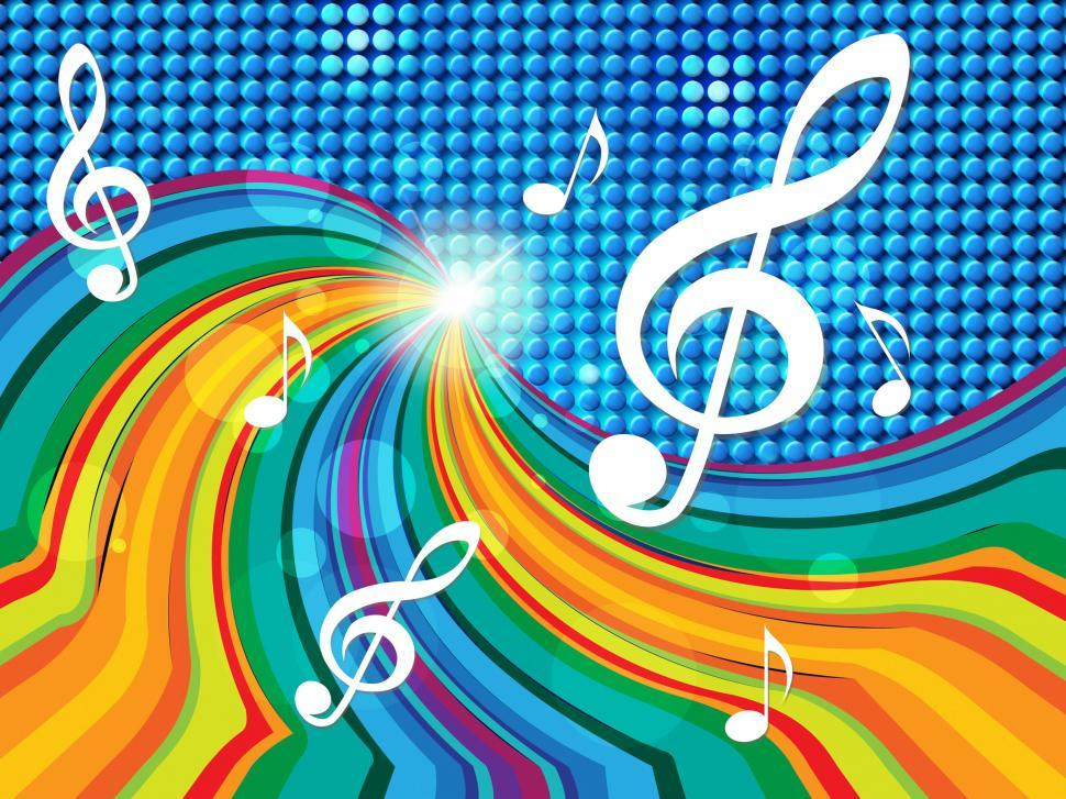Download Free Stock Photo of Music Background Indicates Text Space And Artistic