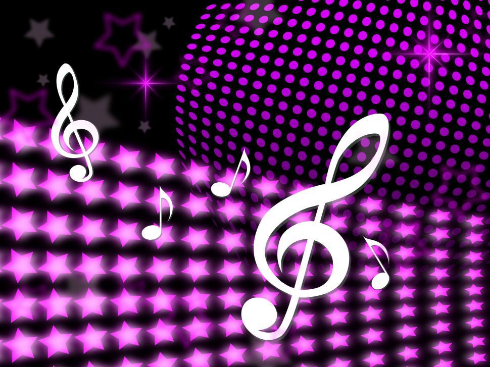 Download Free Stock Photo of Music Notes Means Sound Track And Background