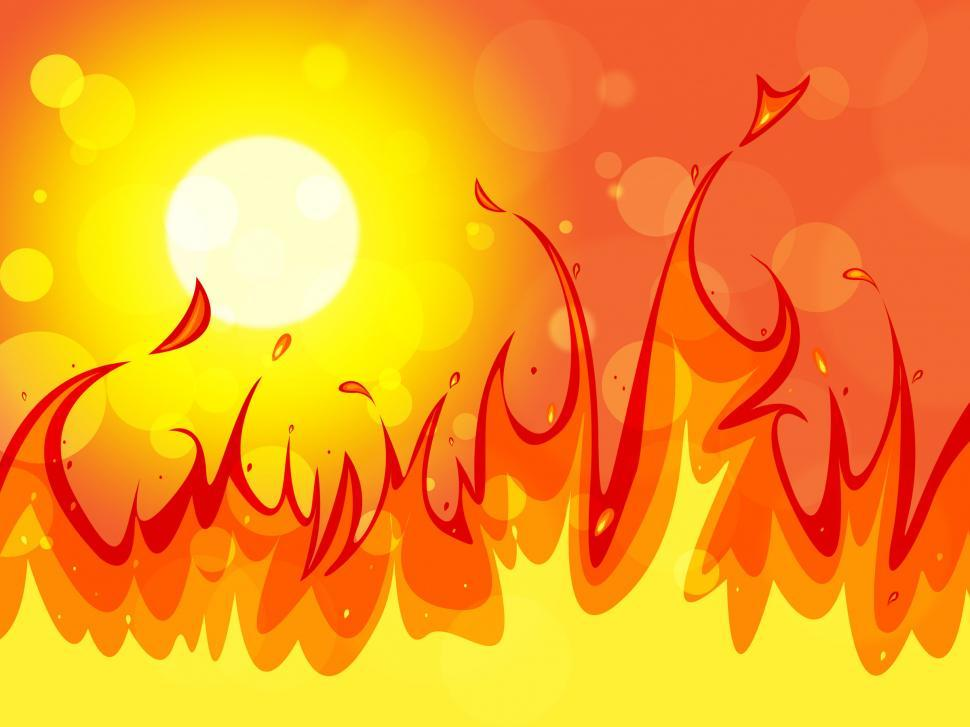 Download Free Stock Photo of Fire Copyspace Represents Backgrounds Blaze And Solar