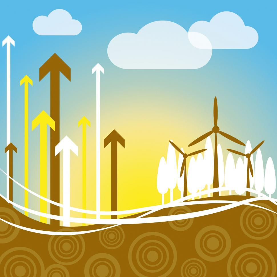Download Free Stock HD Photo of Wind Power Indicates Renewable Resource And Electricity Online