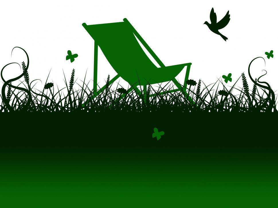 Download Free Stock Photo of Deck Chair Means Green Grass And Summer