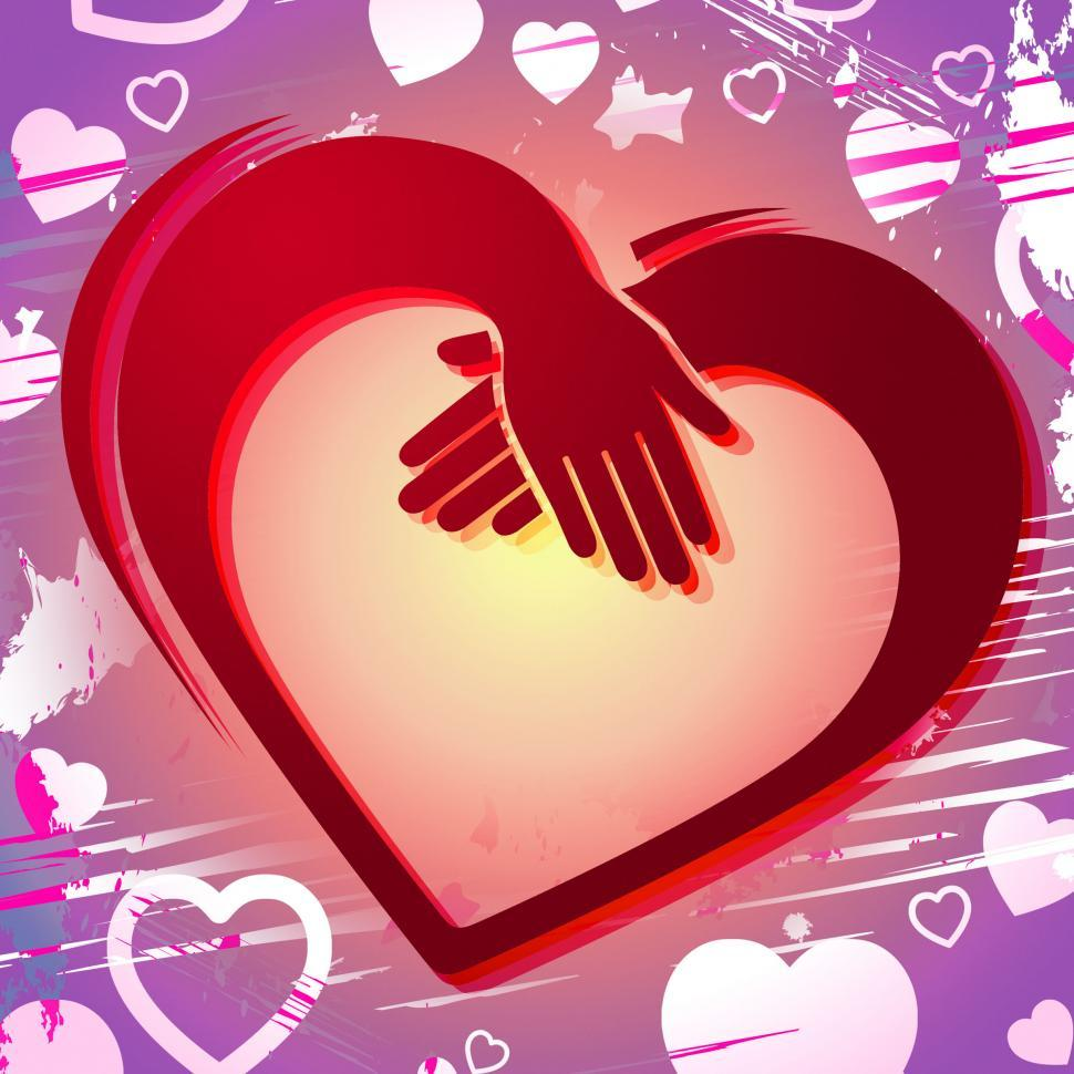 Download Free Stock HD Photo of Holding Hands Shows Valentines Day And Affectionate Online