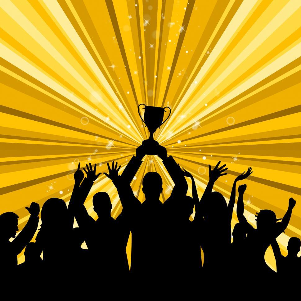 Download Free Stock HD Photo of Celebrate Win Represents First Place And Winner Online