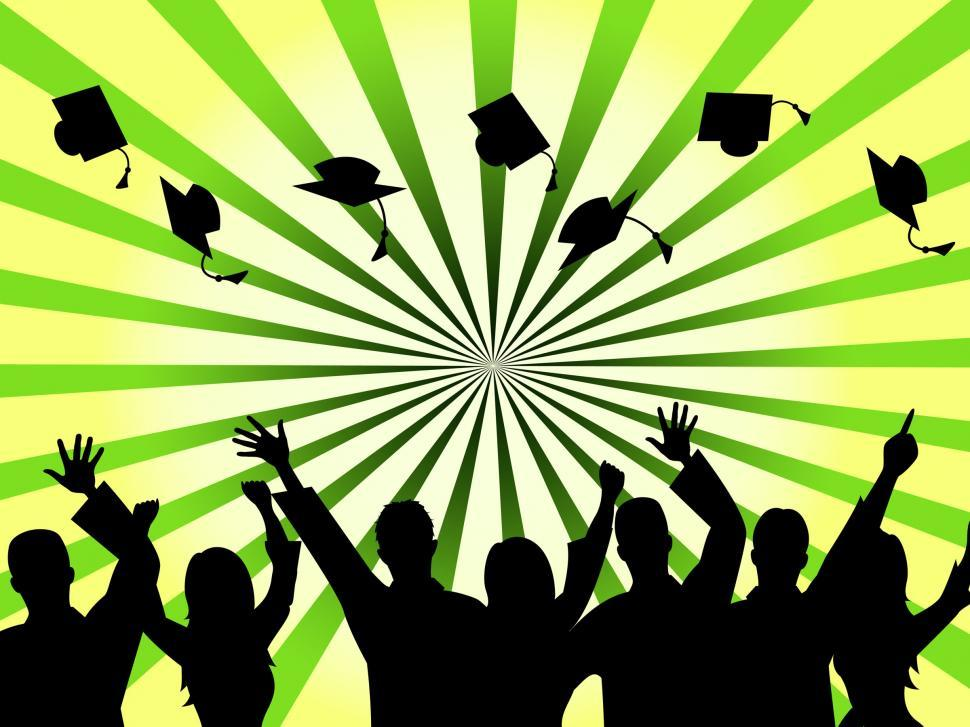 Download Free Stock HD Photo of Graduation Education Means Studying Ceremony And Masters Online