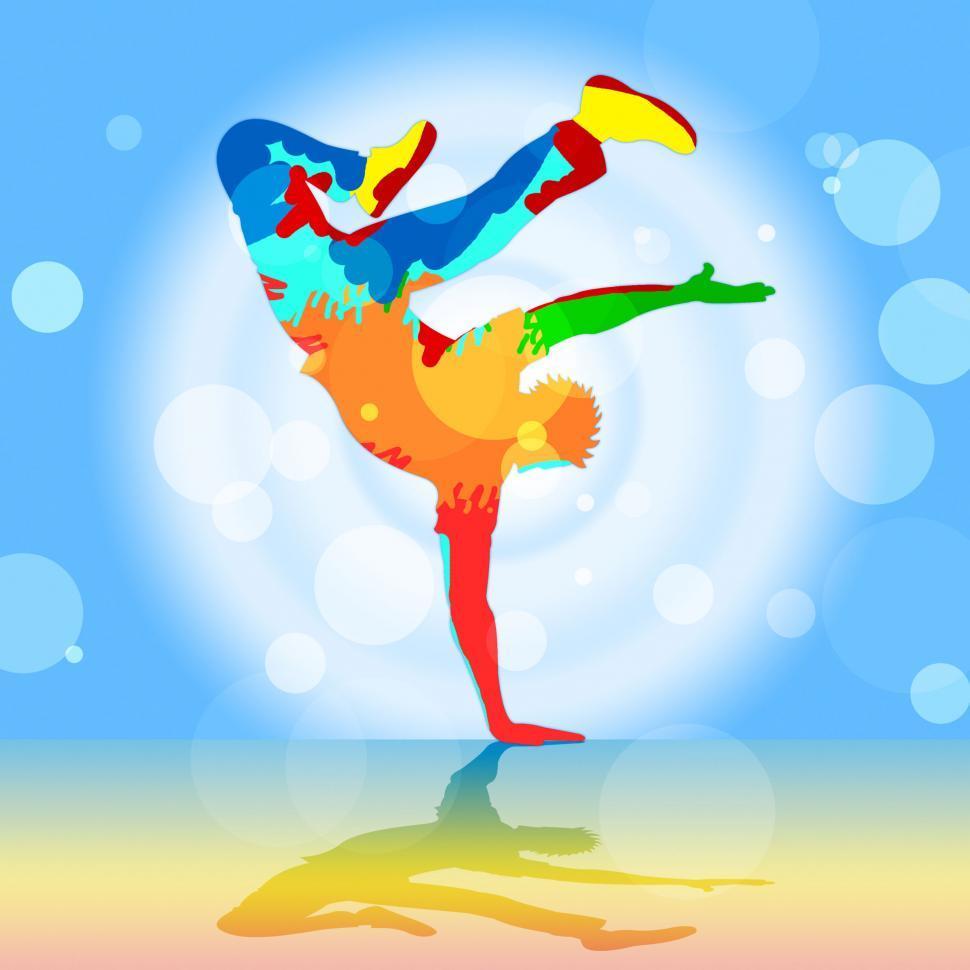 Download Free Stock HD Photo of Break Dancer Indicates Disco Dancing And Breakdancer Online