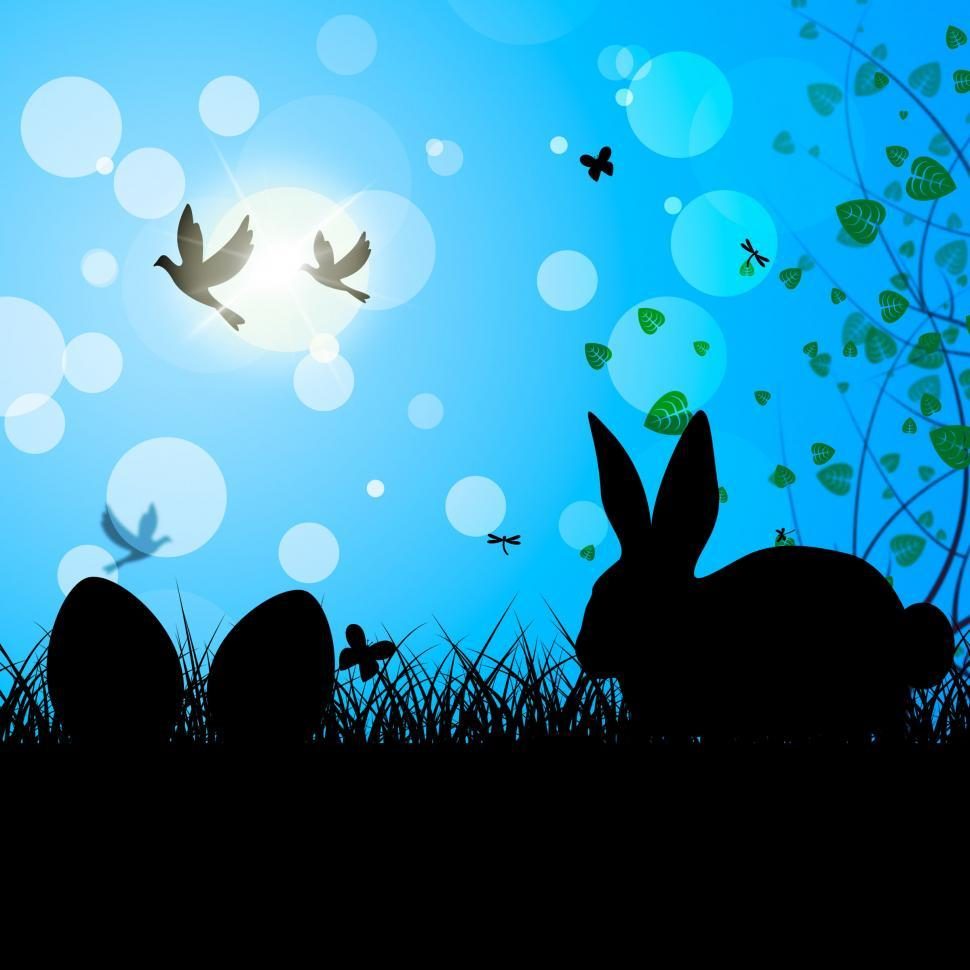 Download Free Stock HD Photo of Easter Eggs Means Text Space And Bunny Online