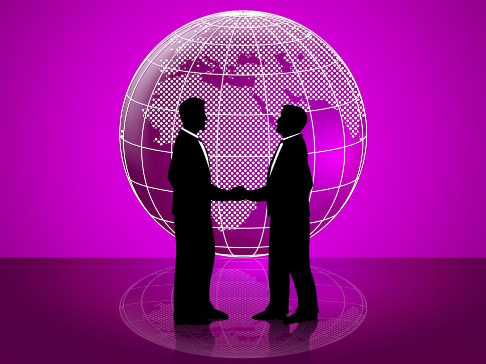 Download Free Stock Photo of Partnership Globe Represents Working Together And Cooperation