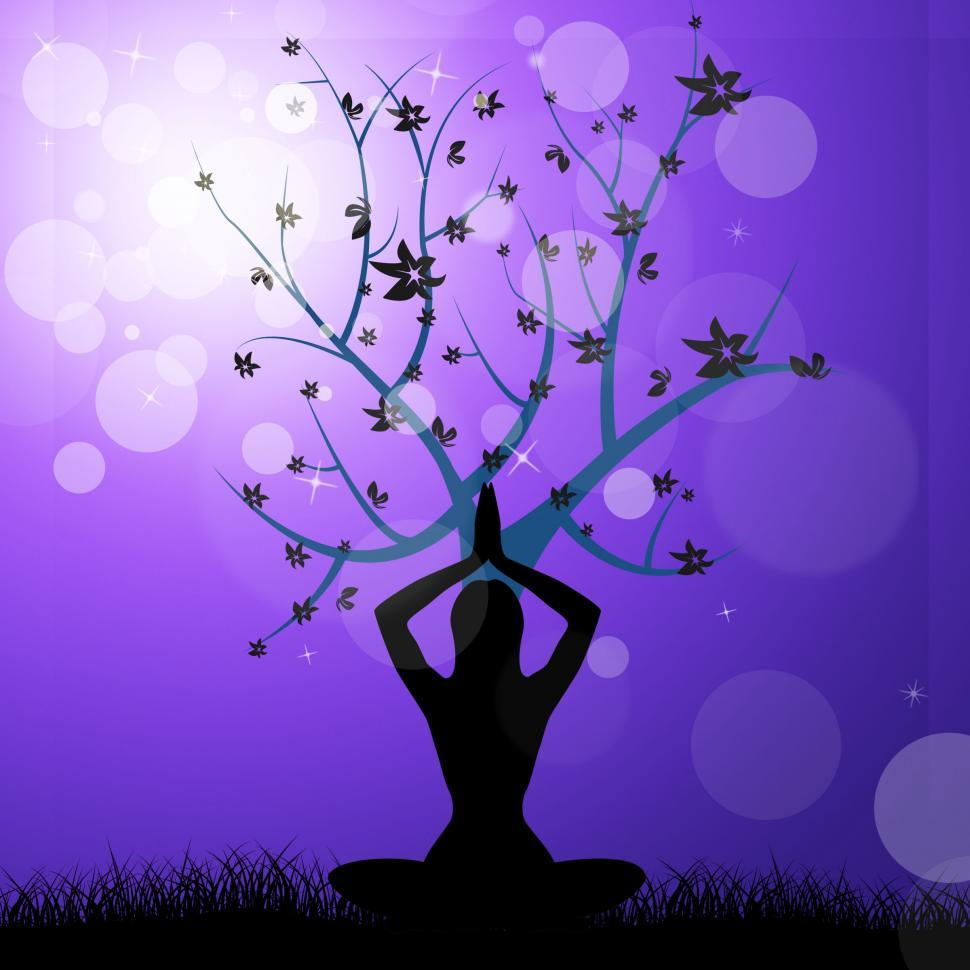 Download Free Stock Photo of Tree Yoga Means Peaceful Feel And Trunk