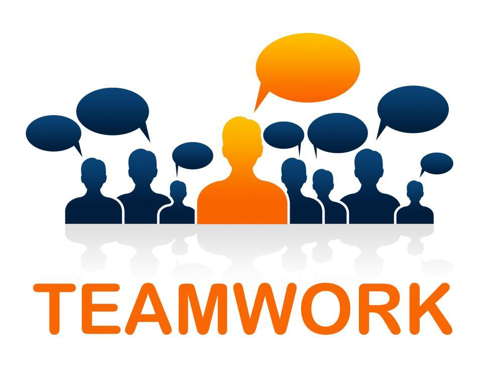 Download Free Stock Photo of Team Teamwork Means Cooperating Ally And Cooperate