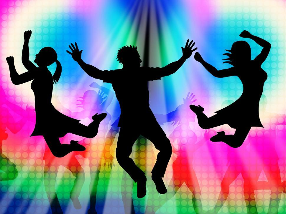 Download Free Stock Photo of Excitement Jumping Represents Disco Dancing And Activity