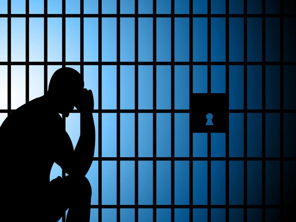 Download Free Stock HD Photo of Jail Copyspace Represents Take Into Custody And Arrest Online