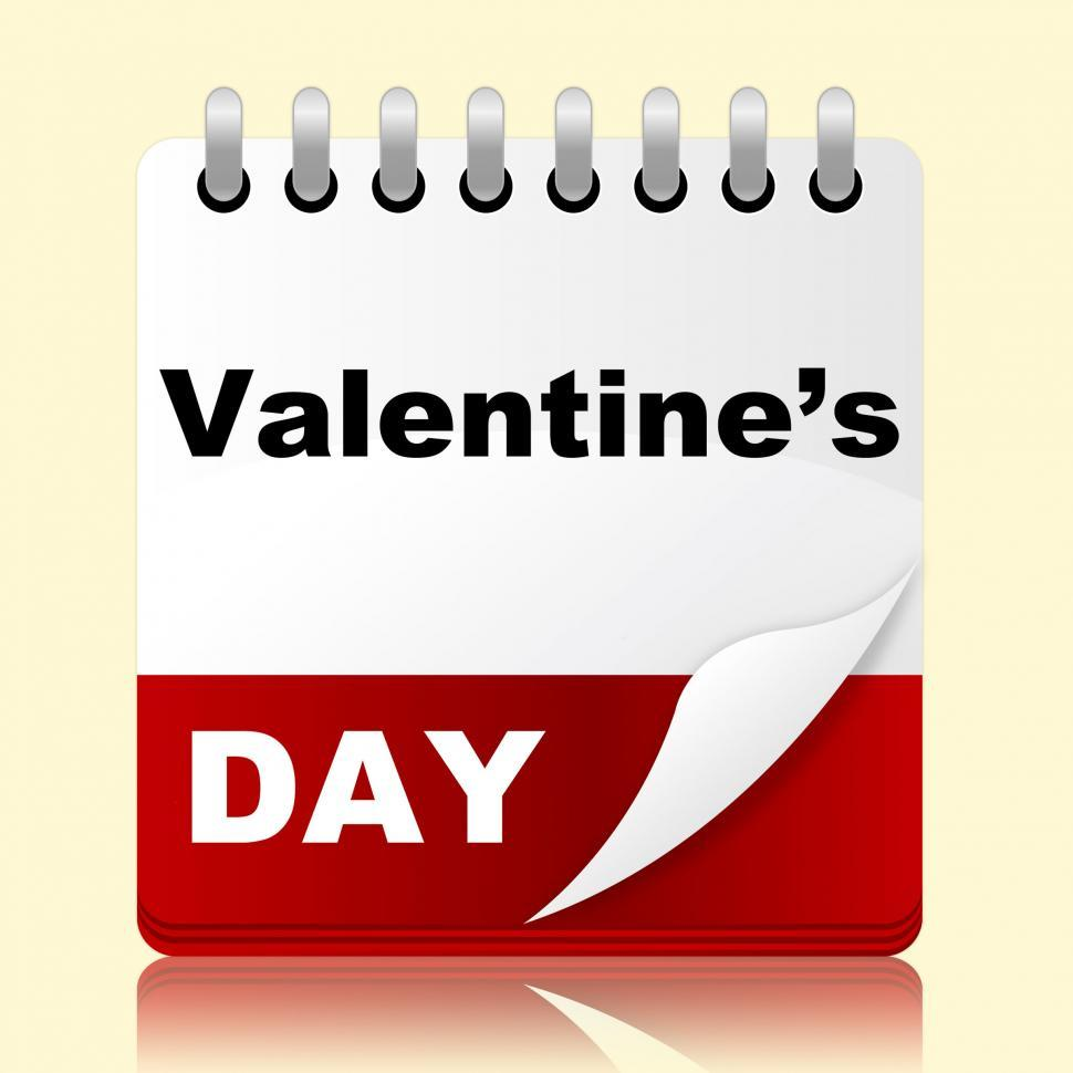 Download Free Stock Photo of Valentines Day Indicates Planning Month And Affection