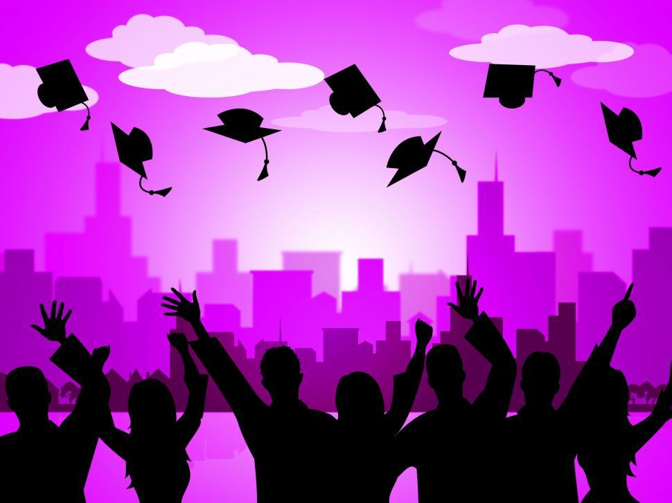 Download Free Stock HD Photo of Celebrate Graduation Indicates Party School And Develop Online