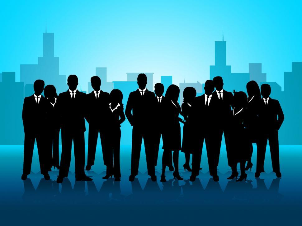 Download Free Stock HD Photo of Business People Represents Cooperation Corporate And Meeting Online