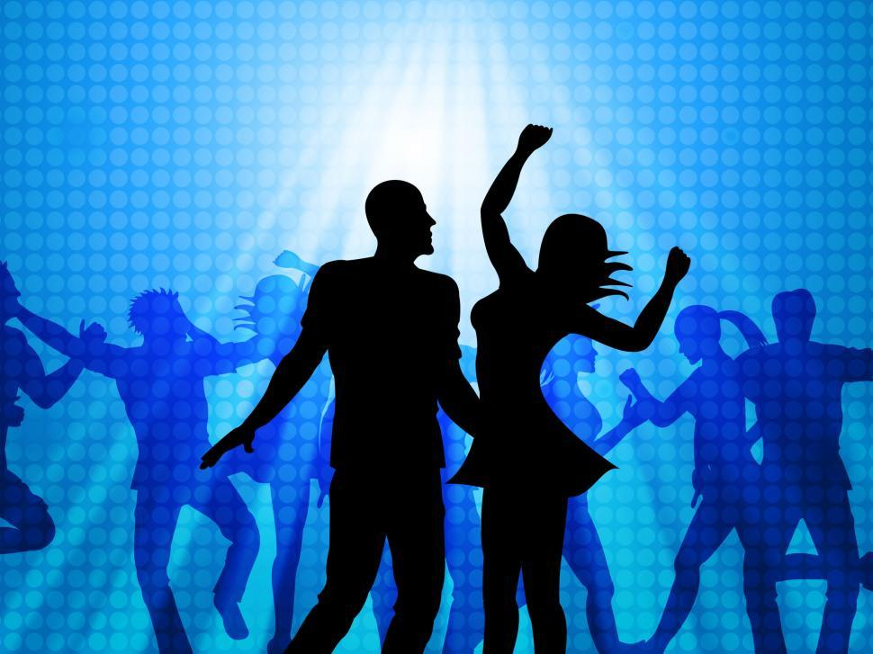 Download Free Stock HD Photo of Disco Party Represents Dance Celebration And Joy Online