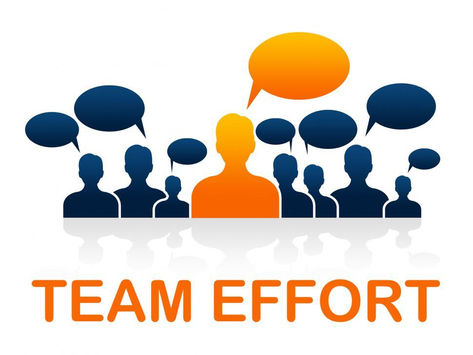 Download Free Stock Photo of Team Effort Shows Togetherness Agreement And Together