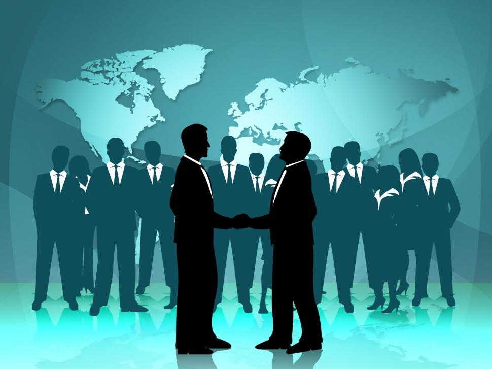 Download Free Stock HD Photo of Partnership World Means Work Together And Cooperation Online