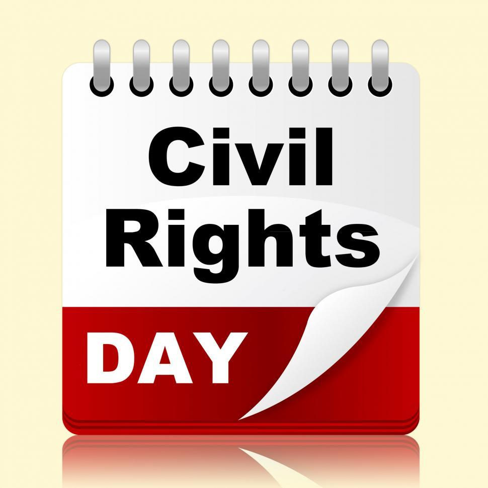 Download Free Stock Photo of Civil Rights Day Means Slavery Plan And Reminder