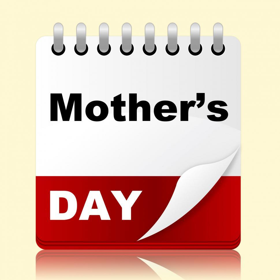 Download Free Stock HD Photo of Mothers Day Shows Mum Month And Date Online
