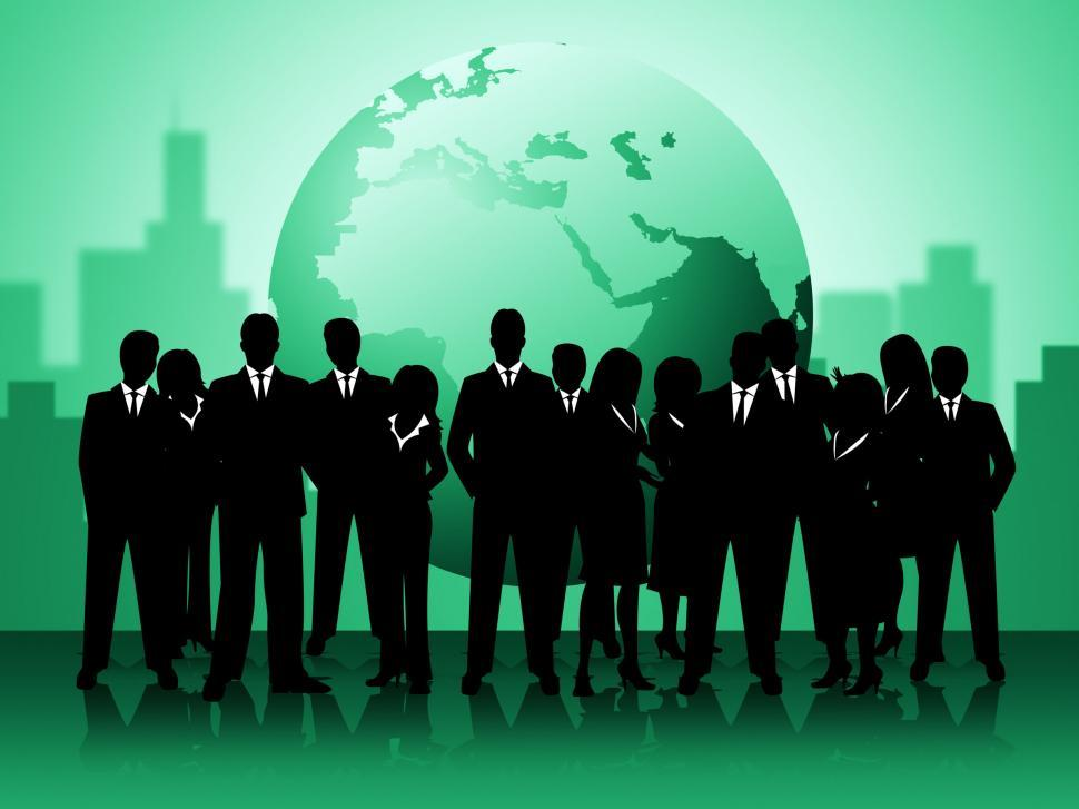Download Free Stock Photo of Business People Shows Professionals Planet And Worldly