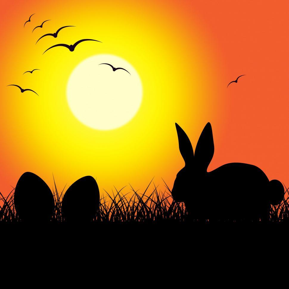 Download Free Stock Photo of Easter Eggs Indicates Bunny Rabbit And Copy