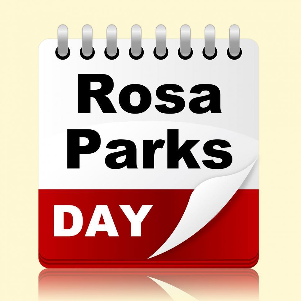 Download Free Stock Photo of Rosa Parks Day Means Black Heritage And America