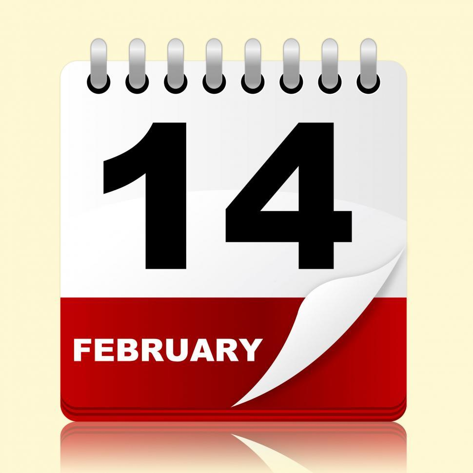 Download Free Stock HD Photo of Love Calendar Means Valentines Day And 14Th Online