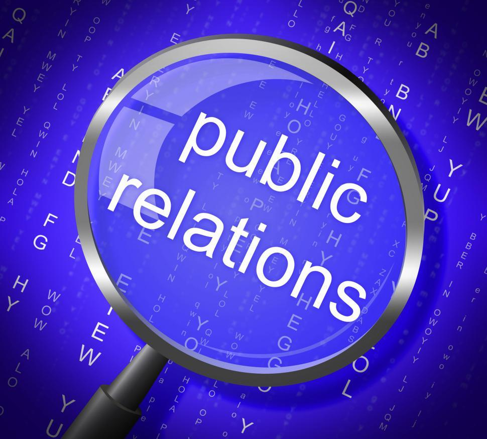 Download Free Stock Photo of Public Relations Means Press Release And Magnification