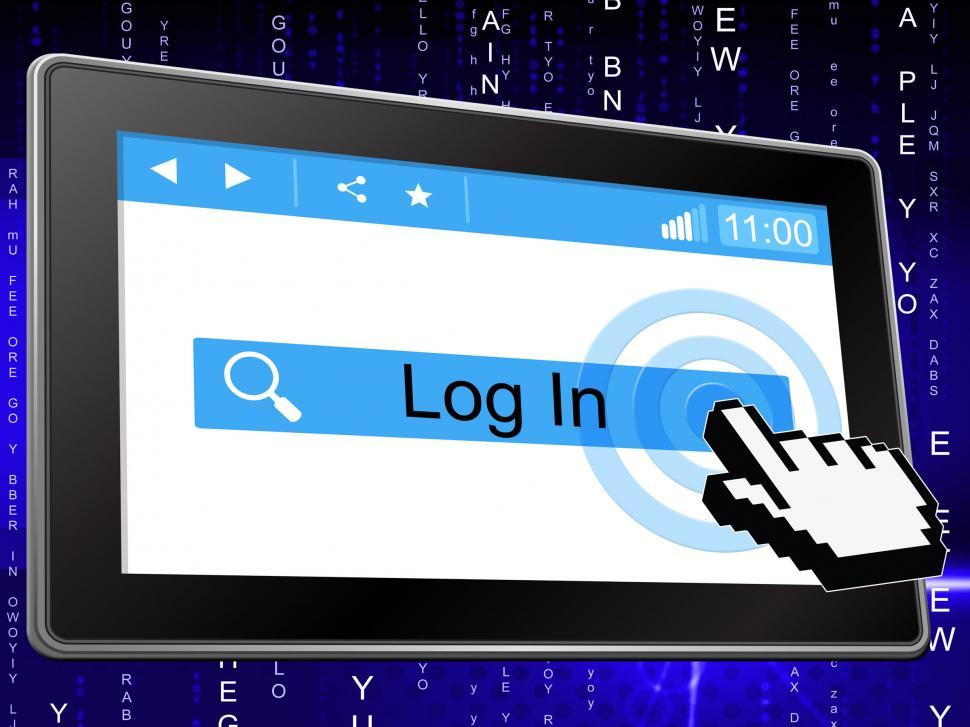 Download Free Stock HD Photo of Log In Means World Wide Web And Enter Online