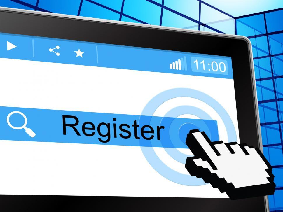 Download Free Stock HD Photo of Online Register Means World Wide Web And Registering Online