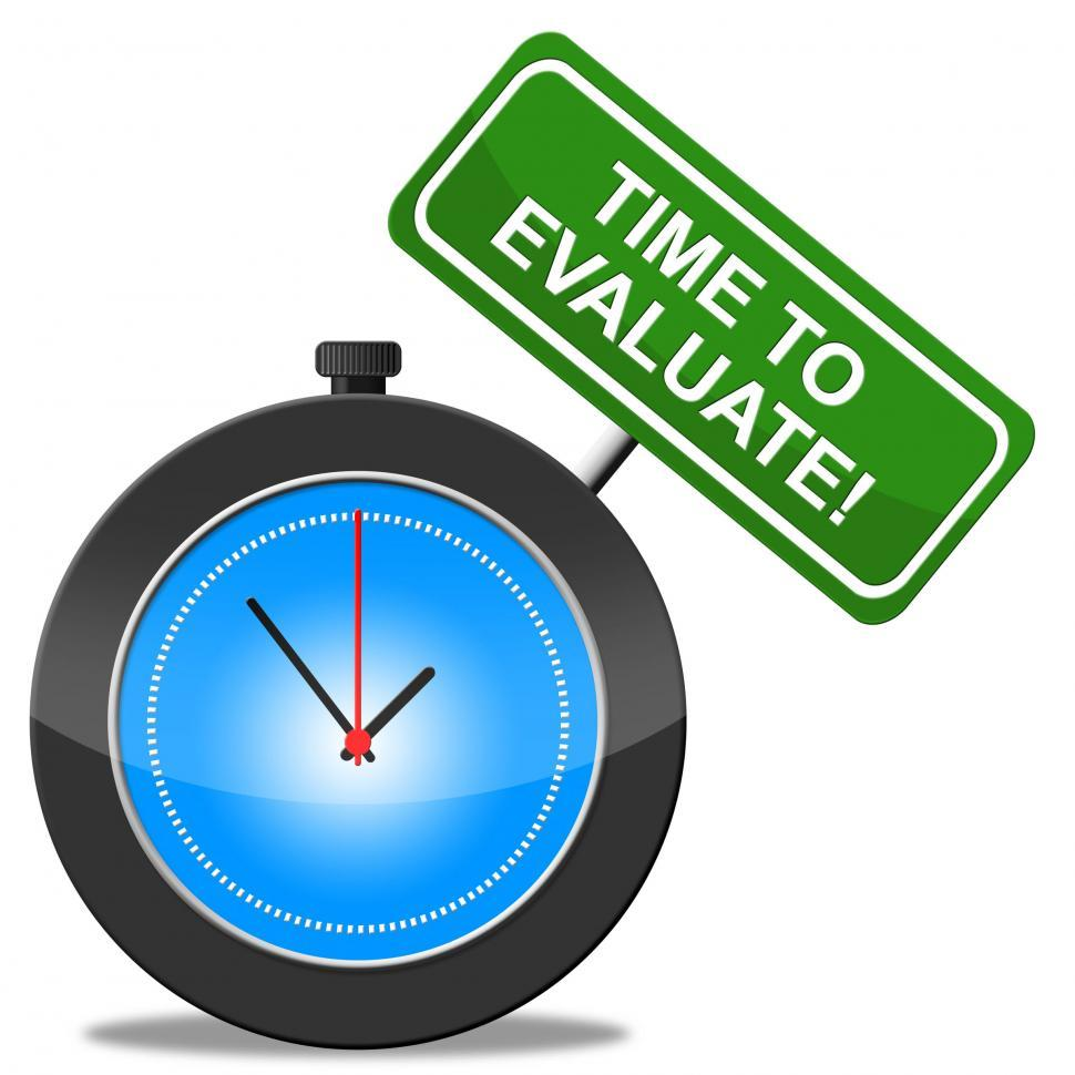 Download Free Stock Photo of Time To Evaluate Means Assess Assessing And Calculate