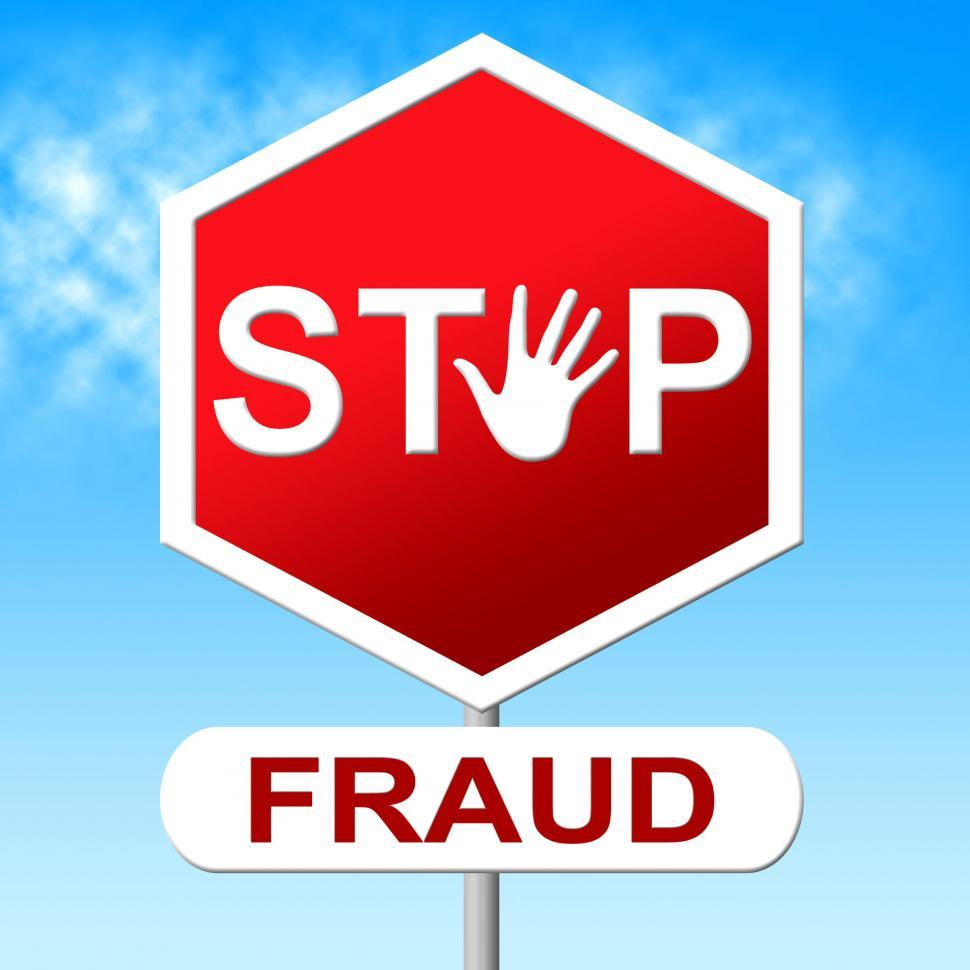 Download Free Stock HD Photo of Fraud Stop Represents Warning Sign And Cheat Online