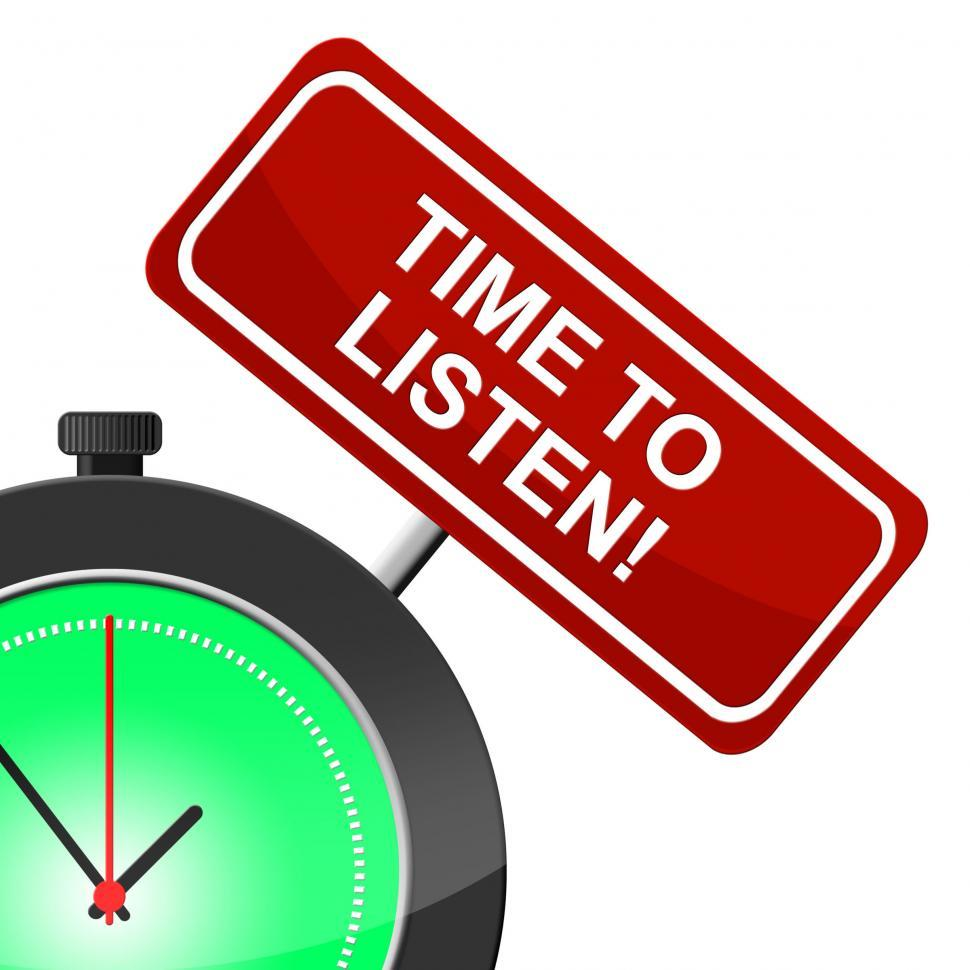 Download Free Stock HD Photo of Time To Listen Indicates At The Moment And Hear Online