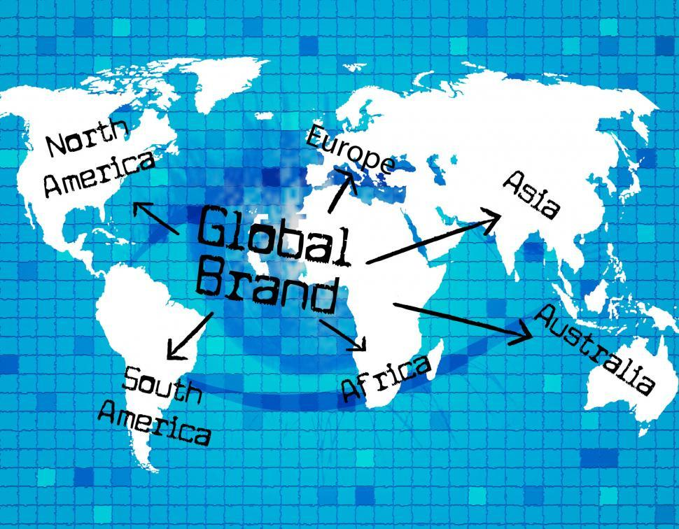 Download Free Stock Photo of Global Brand Represents Globally Globalization And Globalise