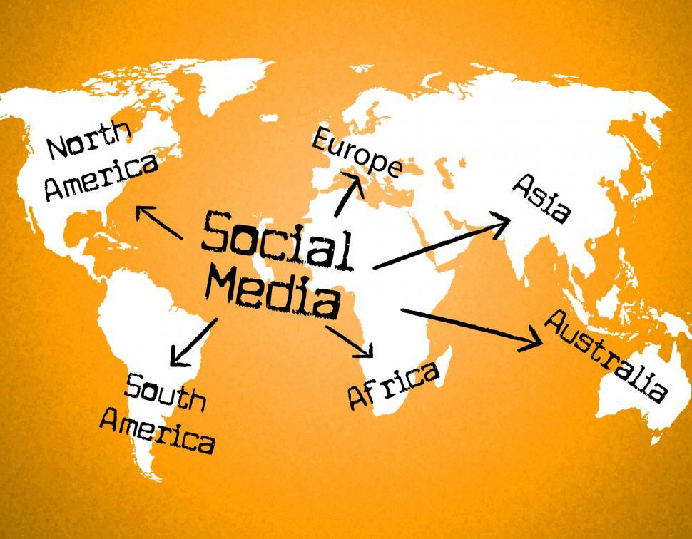 Download Free Stock Photo of Social Media Indicates World Wide Web And Blogging