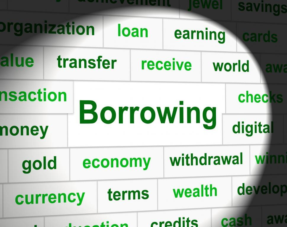 Download Free Stock HD Photo of Borrowing Debt Means Financial Obligation And Owning Online