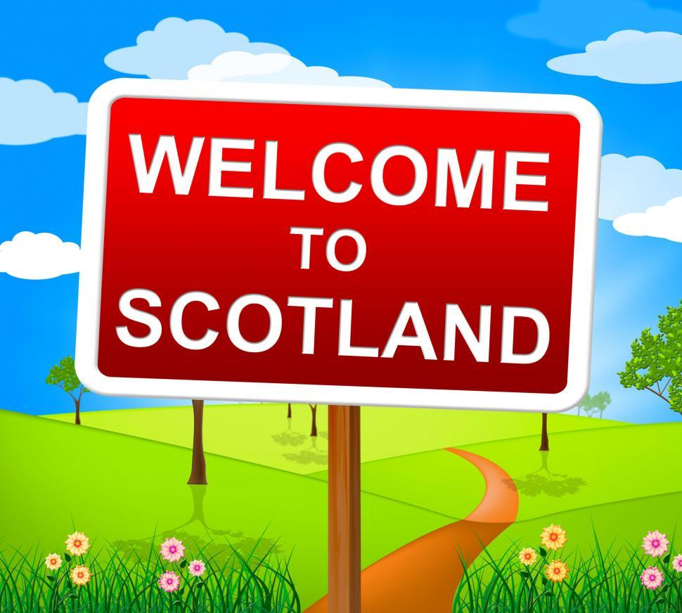 Download Free Stock HD Photo of Welcome To Scotland Indicates Landscape Environment And Pictures Online