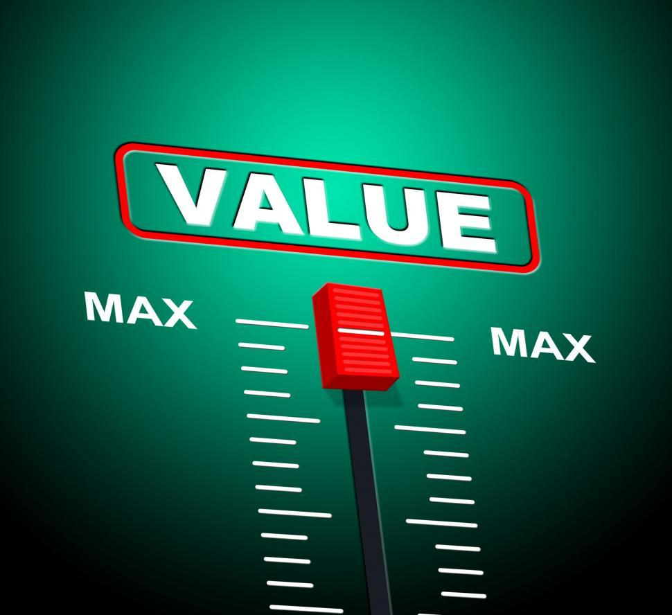 Download Free Stock Photo of Value Max Represents Upper Limit And Cost