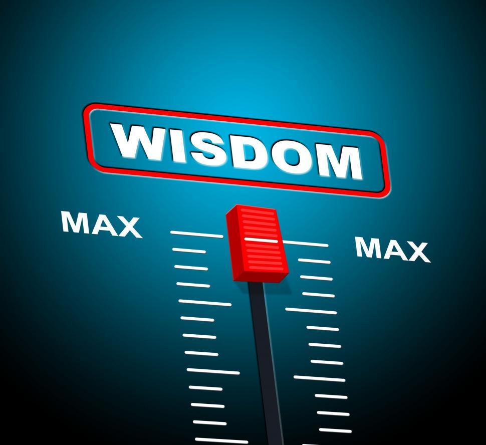 Download Free Stock Photo of Wisdom Max Means Upper Limit And Ability
