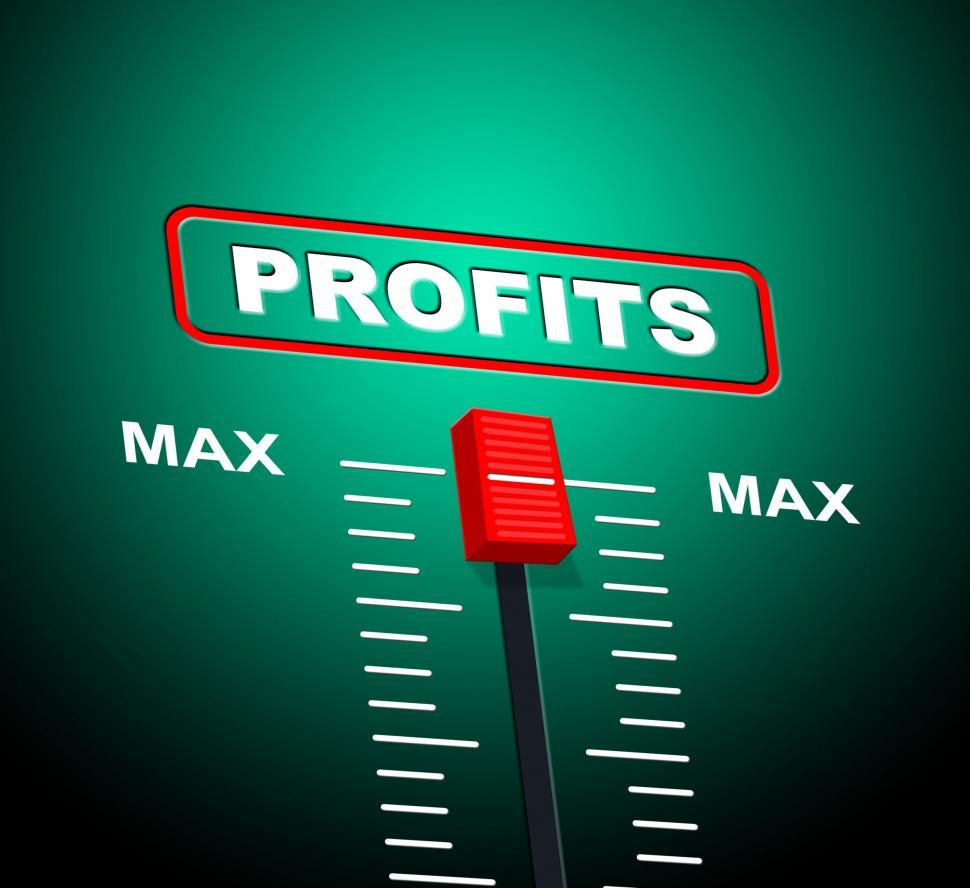 Download Free Stock Photo of Max Profits Indicates Upper Limit And Ceiling