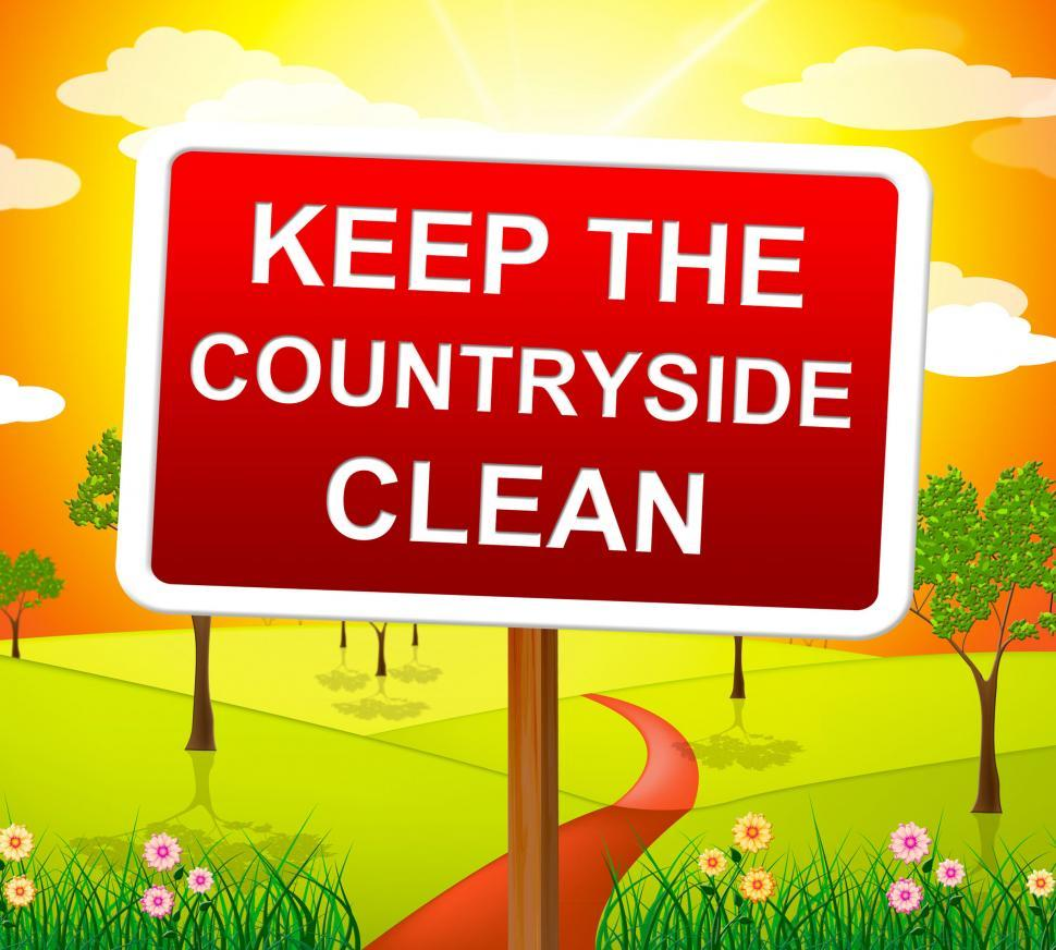 Download Free Stock Photo of Keep Countryside Clean Means Pristine Clear And Landscape