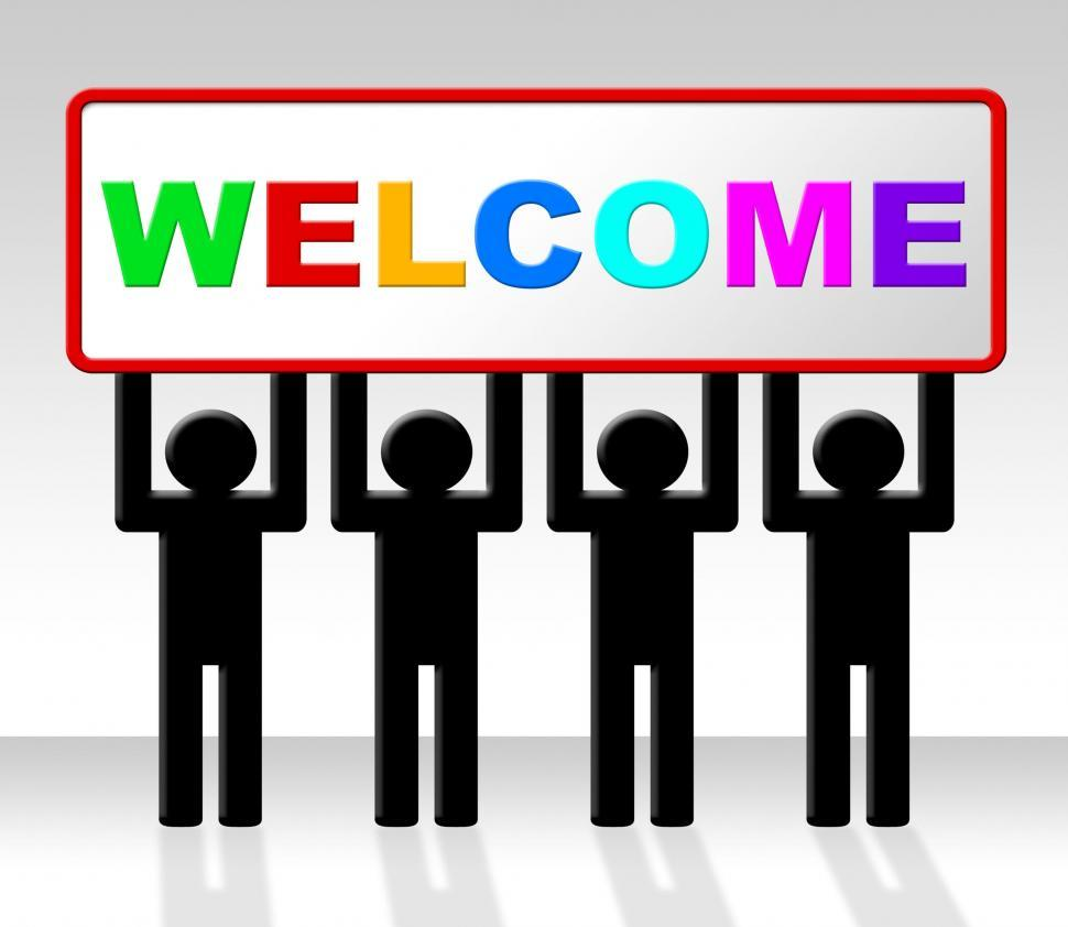 Download Free Stock Photo of Welcome Hello Means How Are You And Arrival